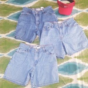 3 pairs of LEVI hi waisted vintage denim shorts 6